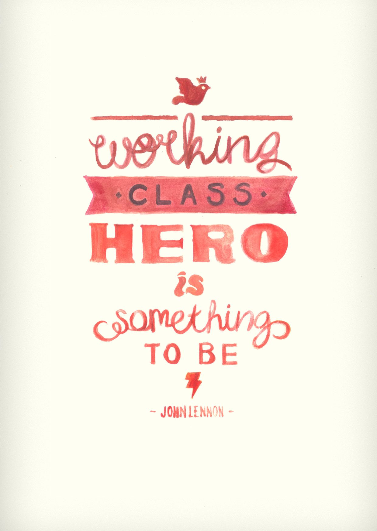 working class hero meaning
