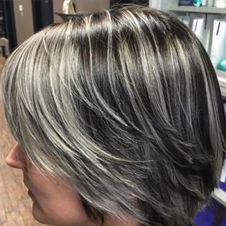 Related image highlights and lowlights pinterest dark blonde client started with a warm dark blonde and wanted to have some grey highlights put in for pmusecretfo Choice Image
