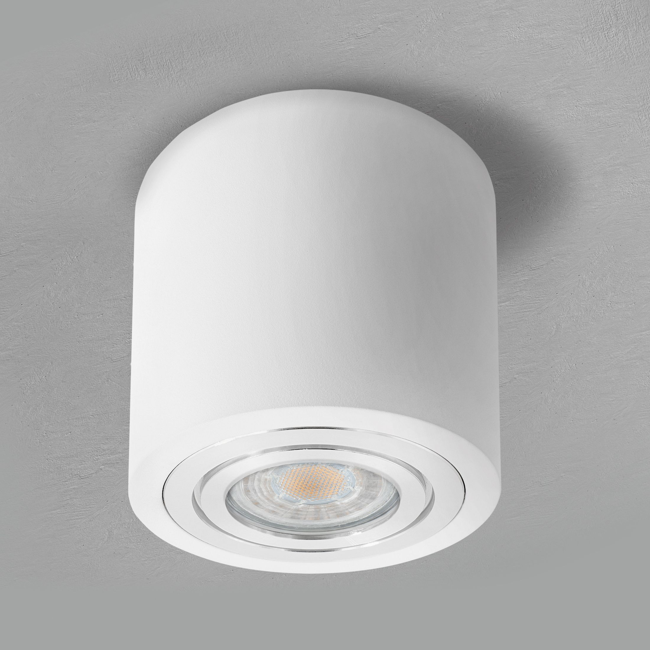 Led Deckenleuchte Bad Ip44 Inkl Led Gu10 6w Warmweiss Aufbauspot In Weiss Rund Led Deckenleuchte Bad Deckenleuchte Bad Beleuchtung