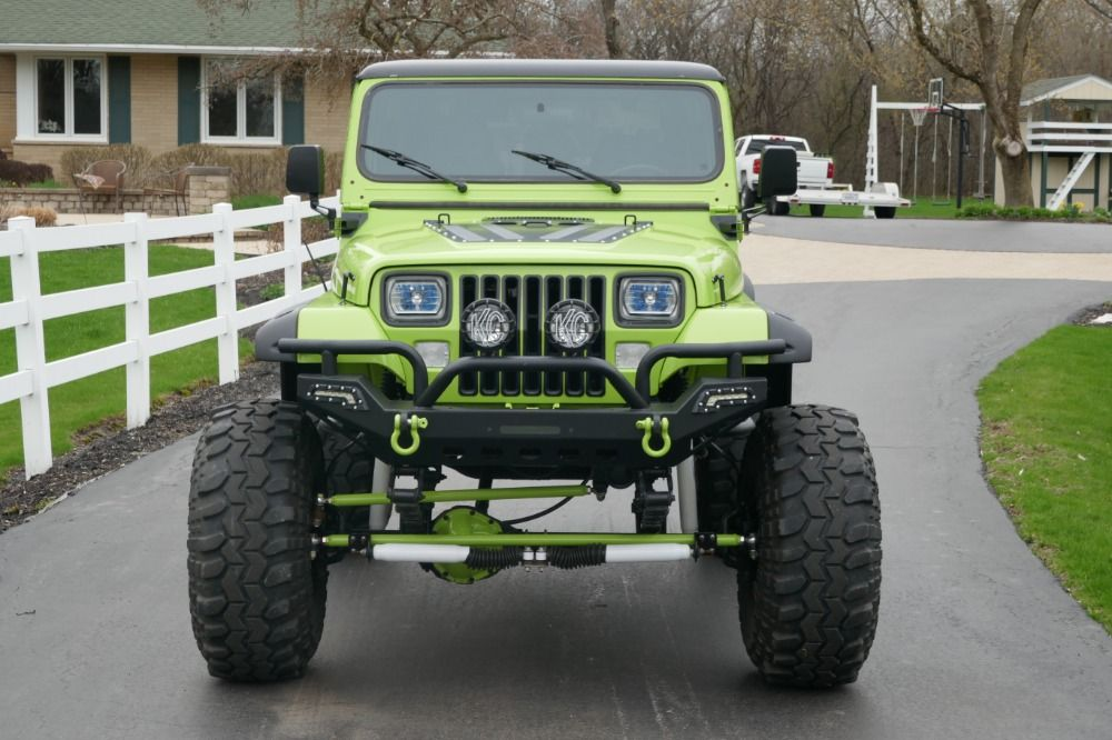 Used 1993 Jeep Wrangler 4x4 Yj Grave Digger Jr Lifted Big Little