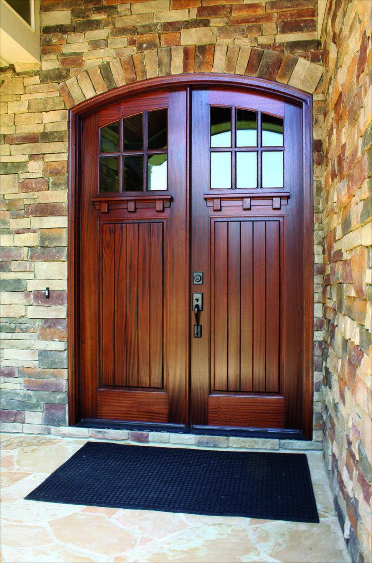 craftsman double front door. Craftsman-double-door-wood.jpg Craftsman Double Front Door E