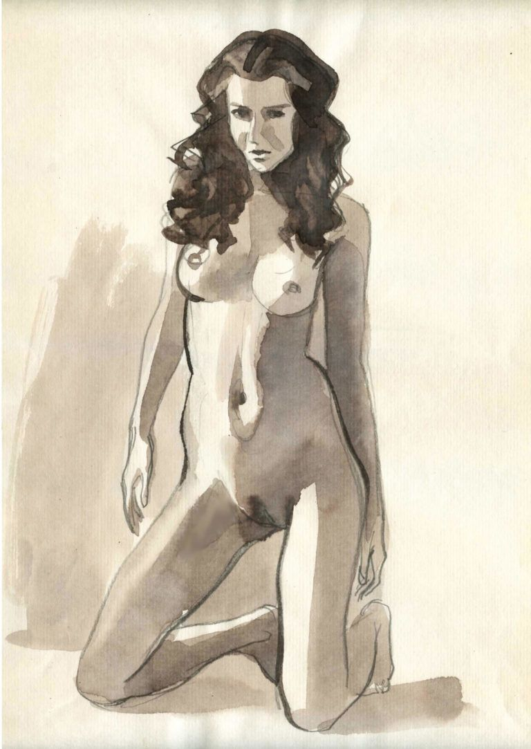 Cowgirl illustrations art nudes