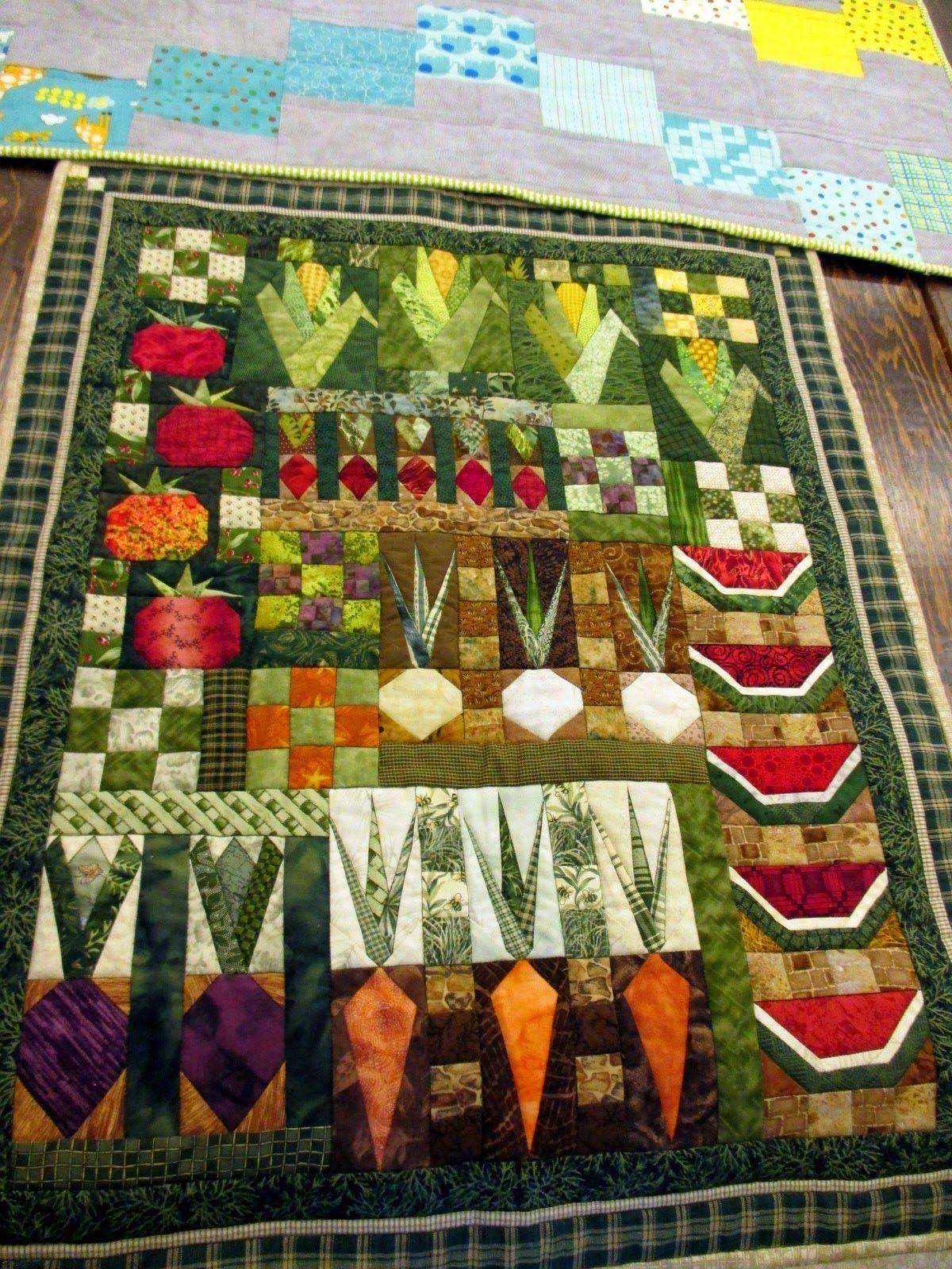 quilted garden  Garden quilt