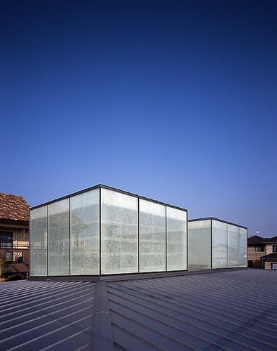Uid Architects Mikulan Double Layer Glass And Rice Paper Membrane Create Homogenous Lantern Like Light At Night