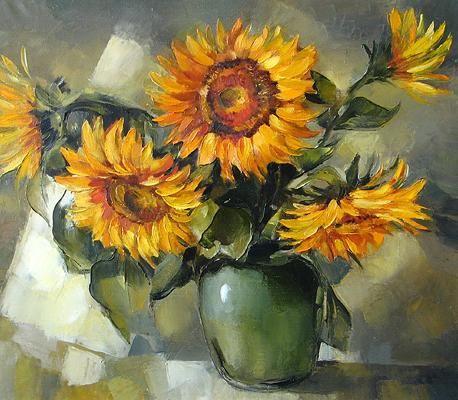 Sunflowers Flower Oil Painting