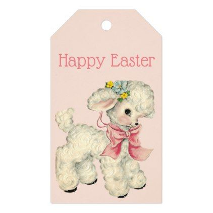 Retrovintage easter lamb gift tags negle Images