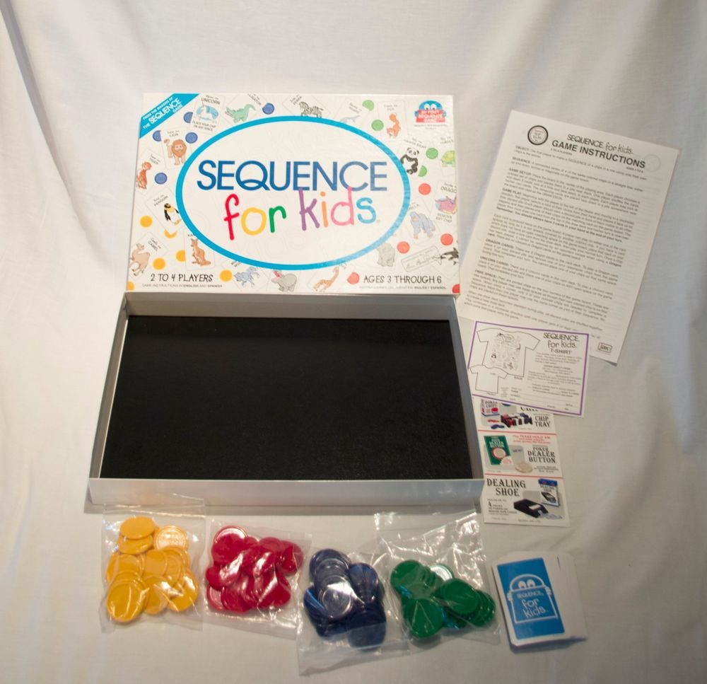 Sequence For Kids Board Game Instructions In English And Espanol