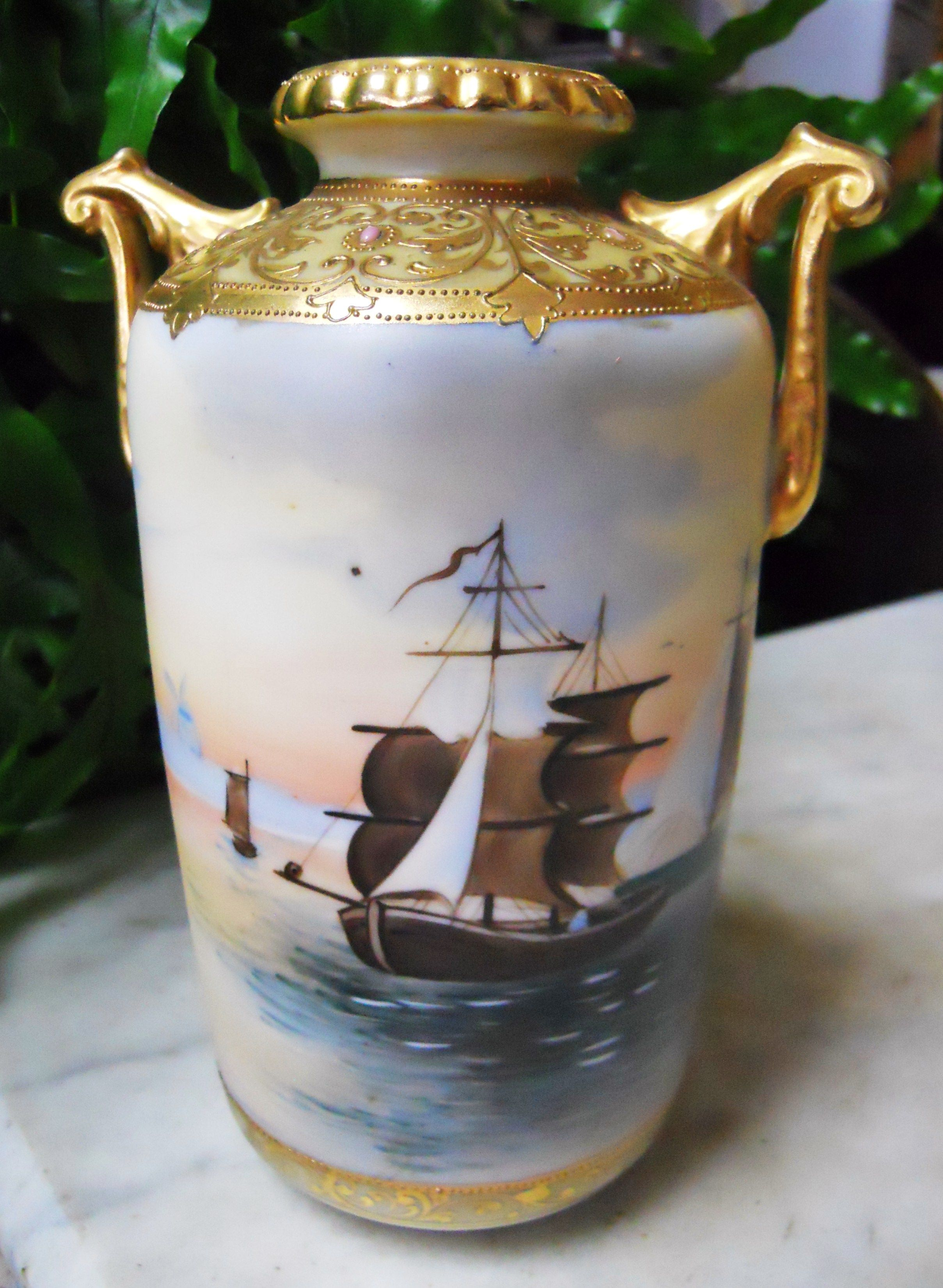 Beautiful hand painted nippon vase nippon vases pinterest beautiful hand painted nippon vase reviewsmspy