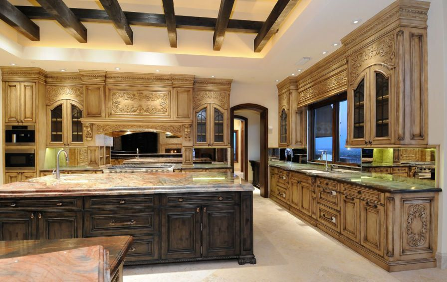 Tuscan Style Kitchen lhm arizona - tuscan style hillside #kitchens #luxuryhomes #estate
