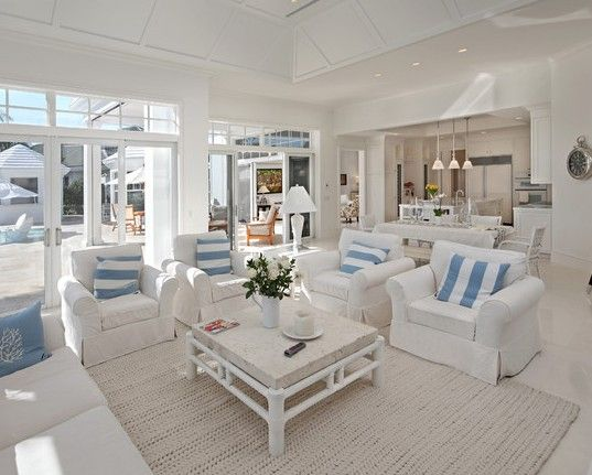 white living room decor #KBHomes Decor ideas Pinterest Room