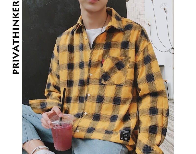 7346eae5 Discount Up to 50% Privathinker 2018 New Long Sleeve Shirt Men Women Casual  Shirt Korean