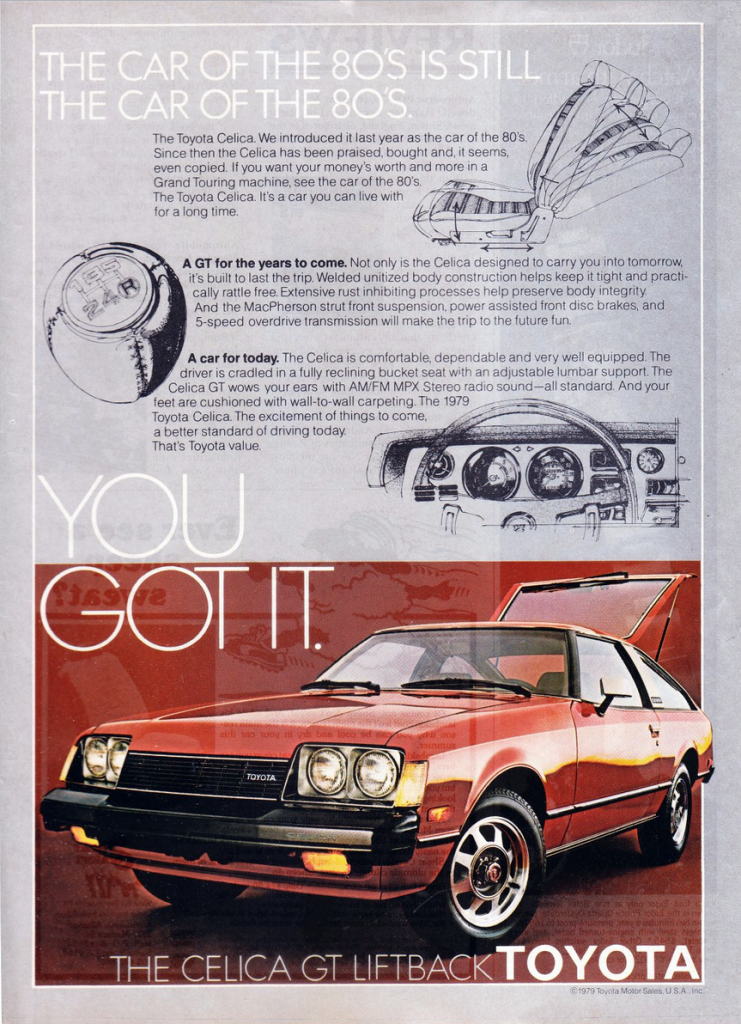 1979 Toyota Celica Gt Ad Toyota Celica Toyota Classic Cars