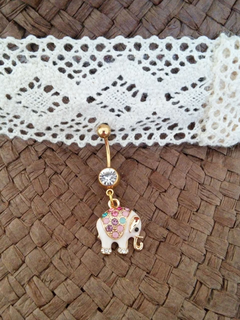 Gold Elephant Belly Button Navel Ring | Accessories ...