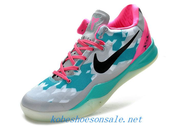 official photos d2e62 b535f Nike Zoom Kobe 8 Elite South Beach Wolf Grey Pink Cherry Tiffany Blue  555035 110