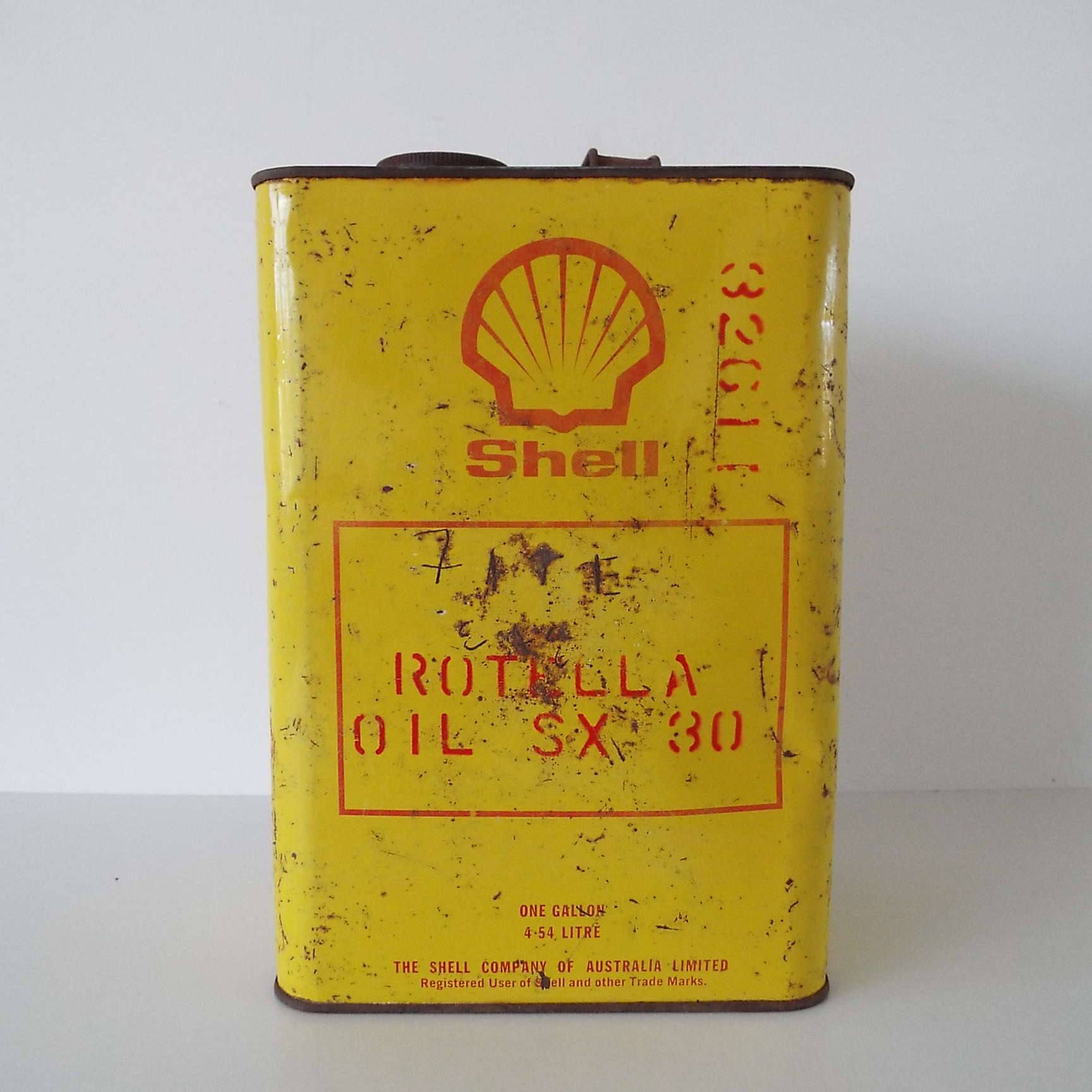 Rare Vintage 1960 S Shell Rotella Oil Can Australian Oil Can One