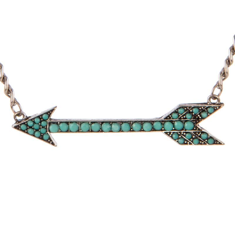 Women's Turquoise Arrow Necklace and Earrings Jewelry Set