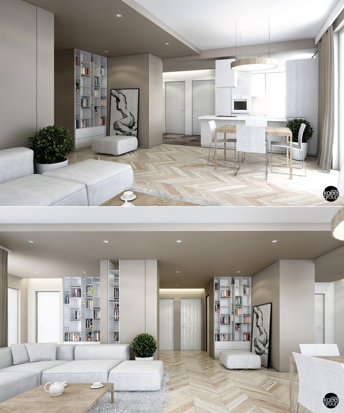 23 Open Concept Apartment Interiors For Inspiration Architecture Design Apartment Interior Open Plan Living Room House Design