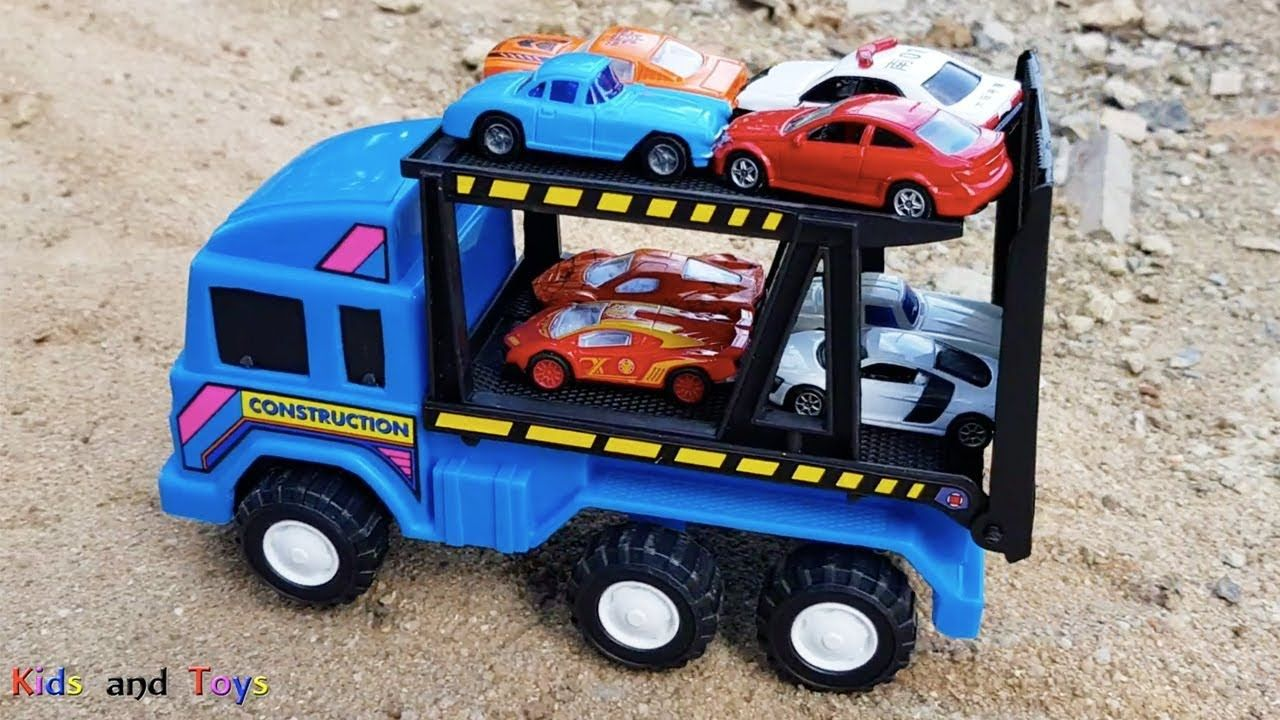Car Transporter For Kids Carrying A Lot Of Cars Toys For Kids Kids A Toy Car Toys Kids Toys