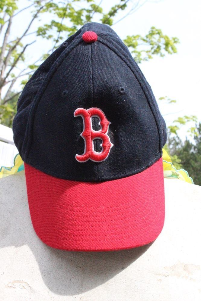 Boston Red Sox Baseball Hat Cap Cloth Adjustment Genuine Nike Red Bill #Nike  #Hat