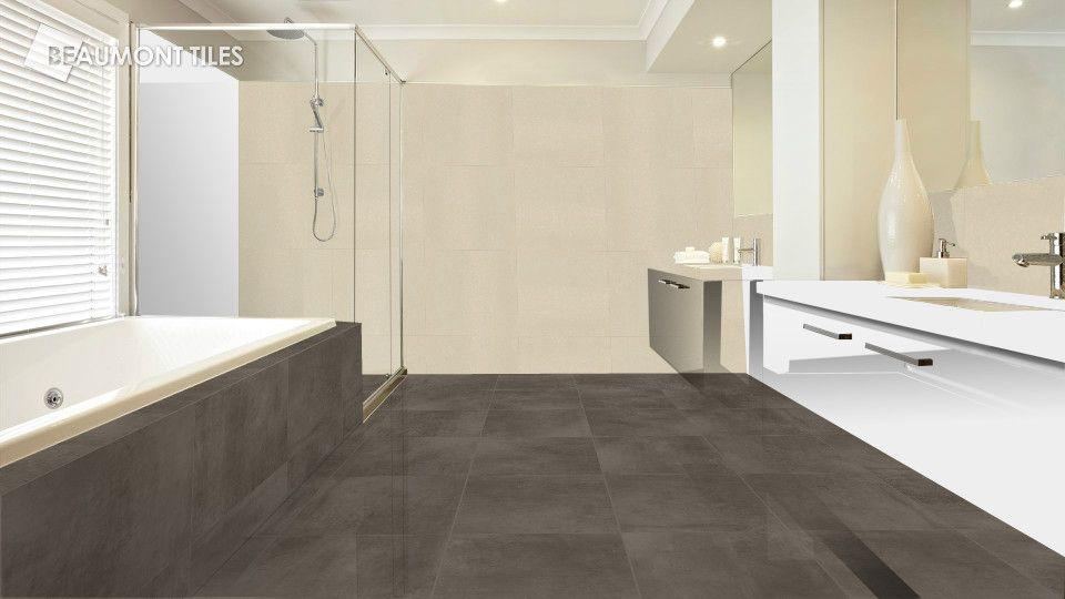 Beaumont Tiles BELGA CHARCOAL 450x450 AURORA PUTTY RECTIFIED 600x600 ...