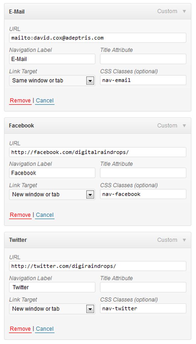 Adding Social Media Icons Wordpress Social icons