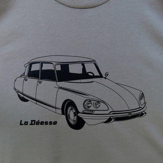 Citroën DS, La Déesse, The Goddess T-shirt Warm Grey