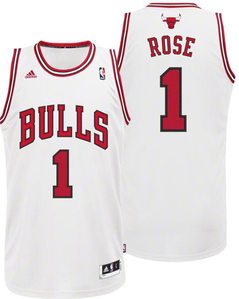 7e78f996 Derrick Rose Chicago Bulls Home White Swingman Jersey Nba Bulls, Nba  Chicago Bulls, Derrick