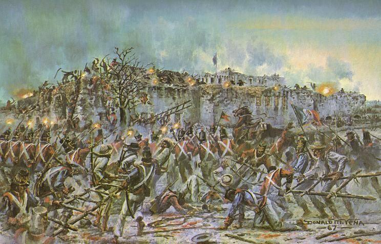 The Mexican Assault | THE ALAMO 1836 | Pinterest | The battle ...