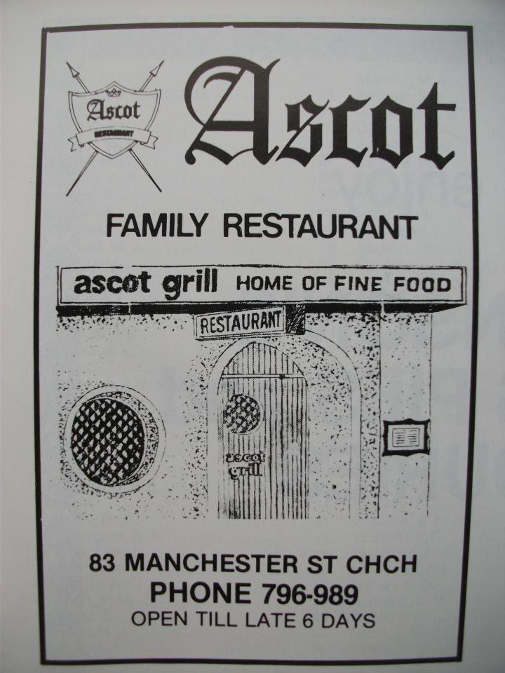 Ascot Family Restaurant 83 Manchester St Christchurch New Zealand