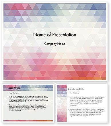 Abstract Pastel Colorful Triangle Pattern Powerpoint Template Powerpoint Templates Powerpoint Powerpoint 2010