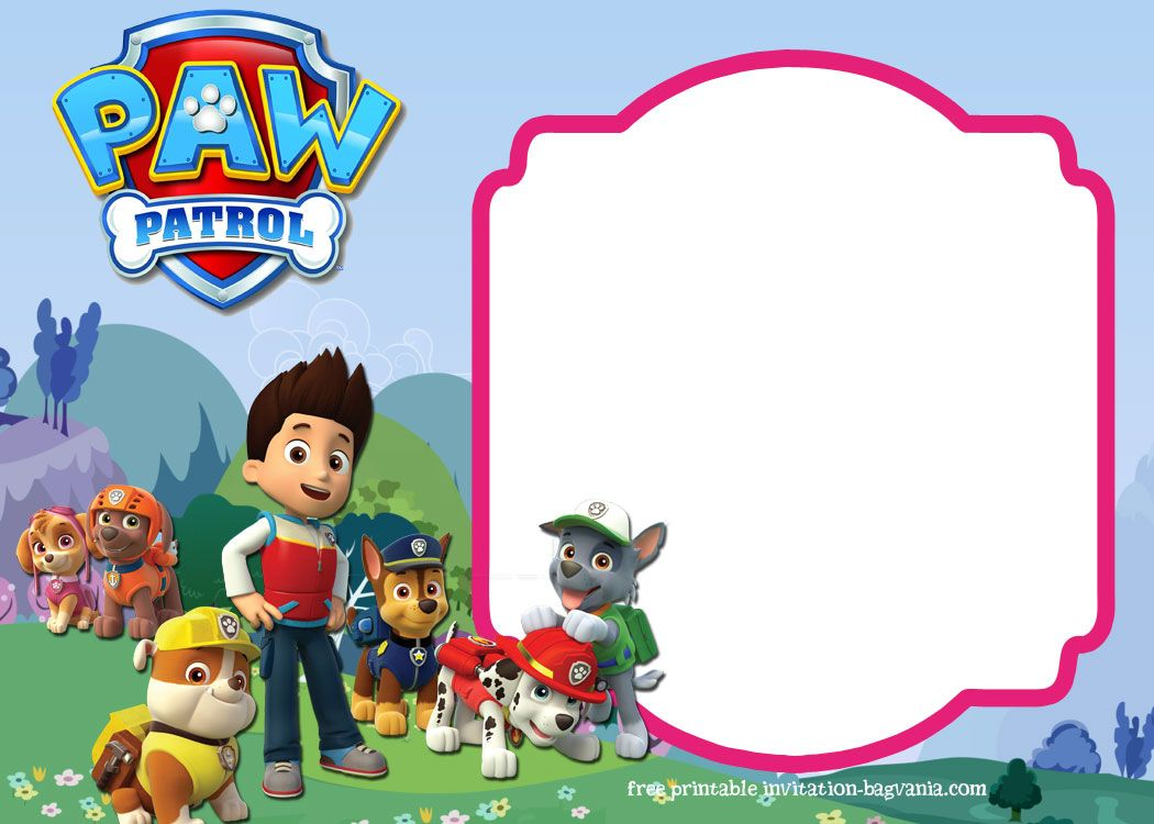 Download Paw Patrol Birthday Invitation Template Most Complete Paw Patrol Birthday Invitations Paw Patrol Birthday Card Paw Patrol Invitations