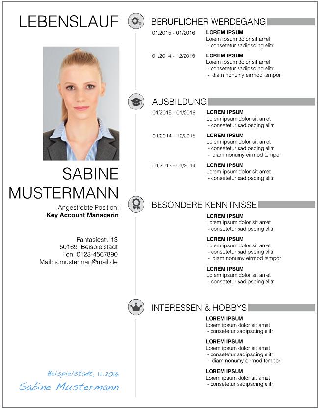 tabellarischer lebenslauf muster vorlage beispiel design 01 - Lebenslauf Vorlage 2013