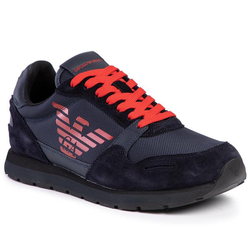 Sneakersy Emporio Armani X4x215 Xl198 D879 Navy D Navy D Navy Sneakersy Polbuty Meskie Eobuwie Pl Armani Emporio Armani Dc Sneaker