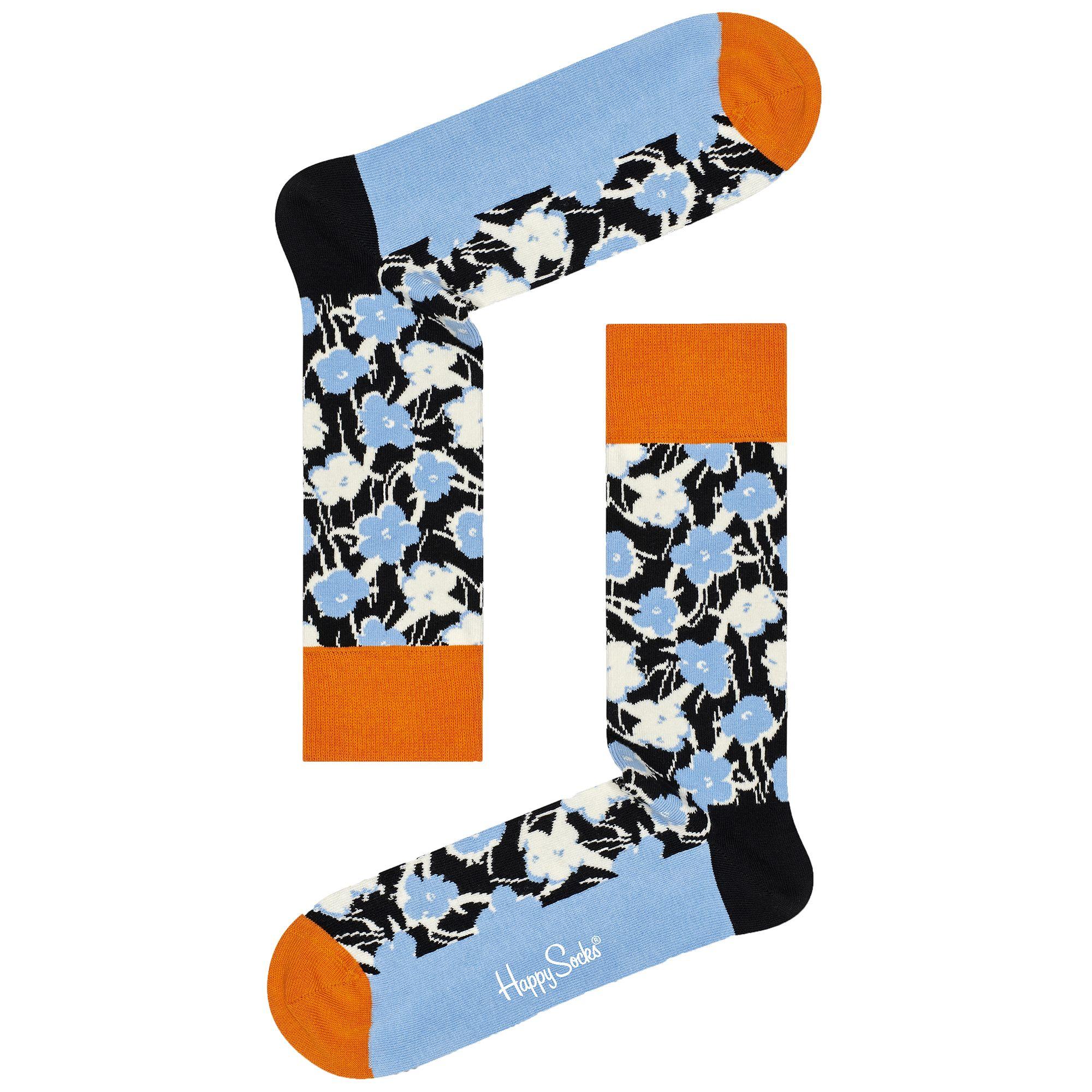 Happy Socks Andy Warhol Graphic Flower Socks - Blue - 41-46 #andywarhol