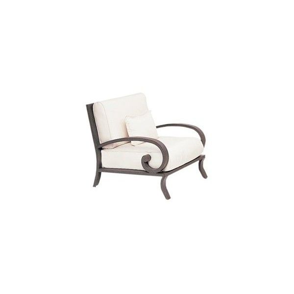 Landgrave Centurion Cast Aluminum Arm Lounge Chair ($1,988) ❤ Liked On  Polyvore Featuring Home