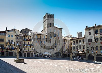 The Piazza Grande of Arezzo also call piazza Vasari Immagine venduta su dreamstime