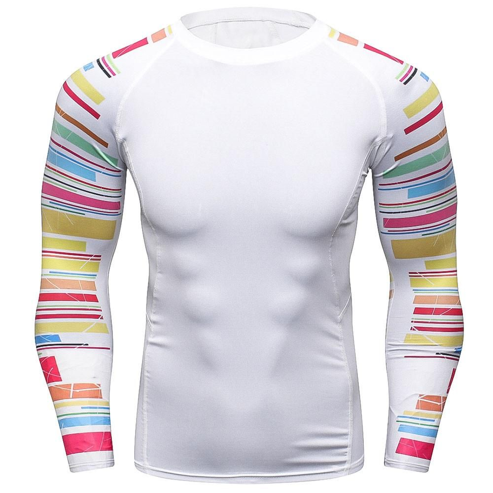 2873d6300391 Mens Compression Shirts 3D Teen Wolf Jerseys Long Sleeve T Shirt Fitness  Men Lycra MMA Crossfit T-Shirts Tights Brand Clothing