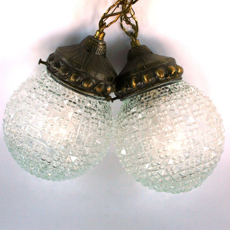 Swag Pendant Lamps Pair Pendant Lights Lighting by RhapsodyAttic. $225.00, via Etsy.