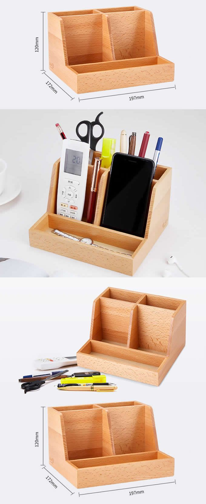 Provided Multifunctional Office Desktop Decor Storage Box Leather Stationery Organizer Pen Pencils Remote Control Mobile Phone Holder Ideal Gift For All Occasions Office & School Supplies