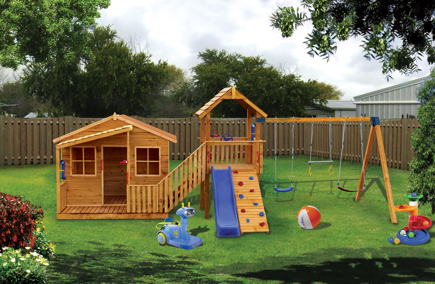 Chipmonk Kindy Gym Cubby House Kids Playground Equipment by CubbyKraft