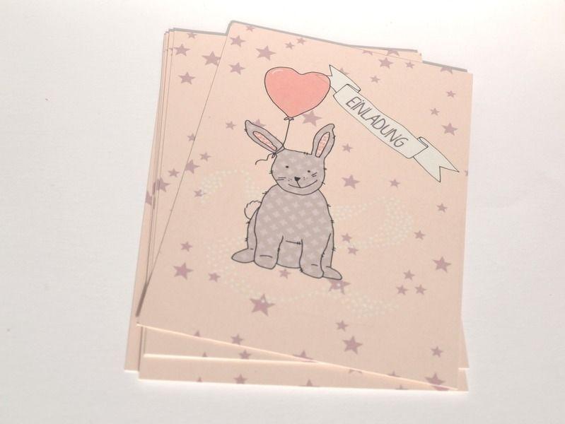 Einladungen   Einladungen Kindergeburtstag   8 Karten   Hase   Ein  Designerstück Von Liabe Dinge Bei DaWanda