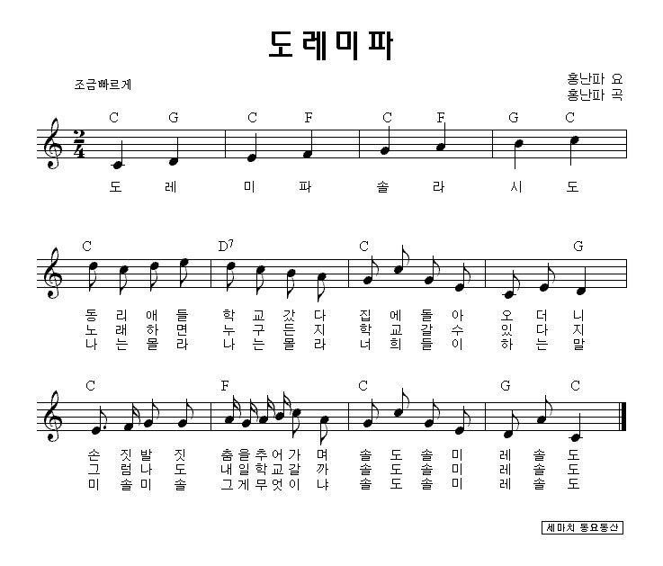 유아동요 동요가사 동요악보 모음 ㄴ ㄷ 네이버 블로그 악보 우쿨렐레
