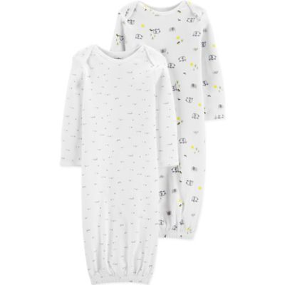 c50c1642a Little Planet Organic By Carter's Newborn 2-Pack Dots And Words Sleep Gowns  Multi