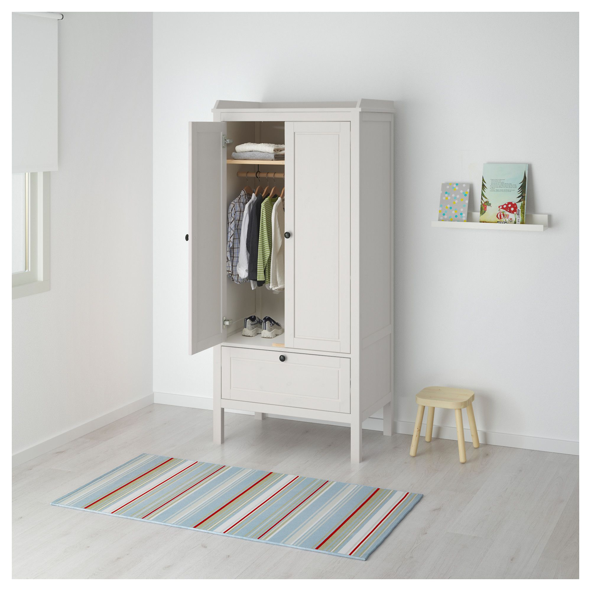 SUNDVIK Wardrobe White 80x50x171 cm
