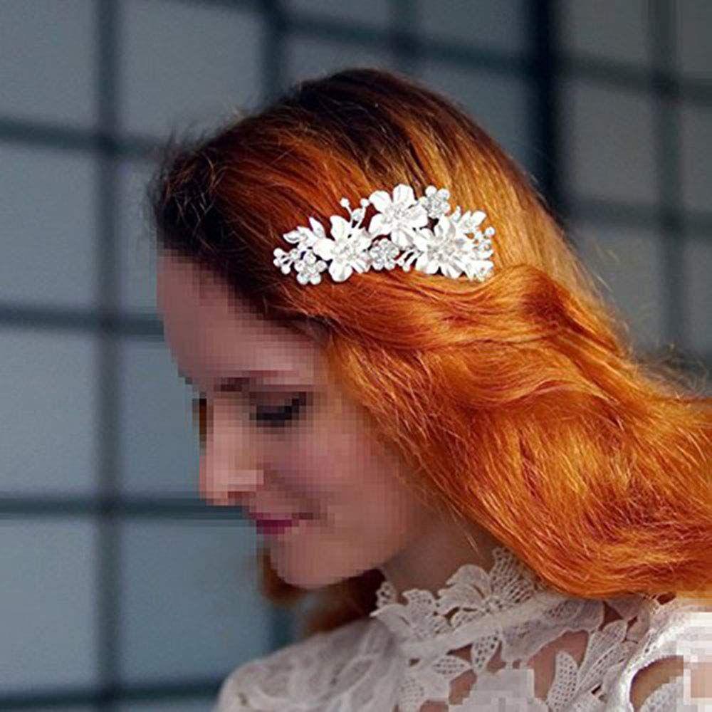 wedding hair comb silver crystal vintage bridal hair clips