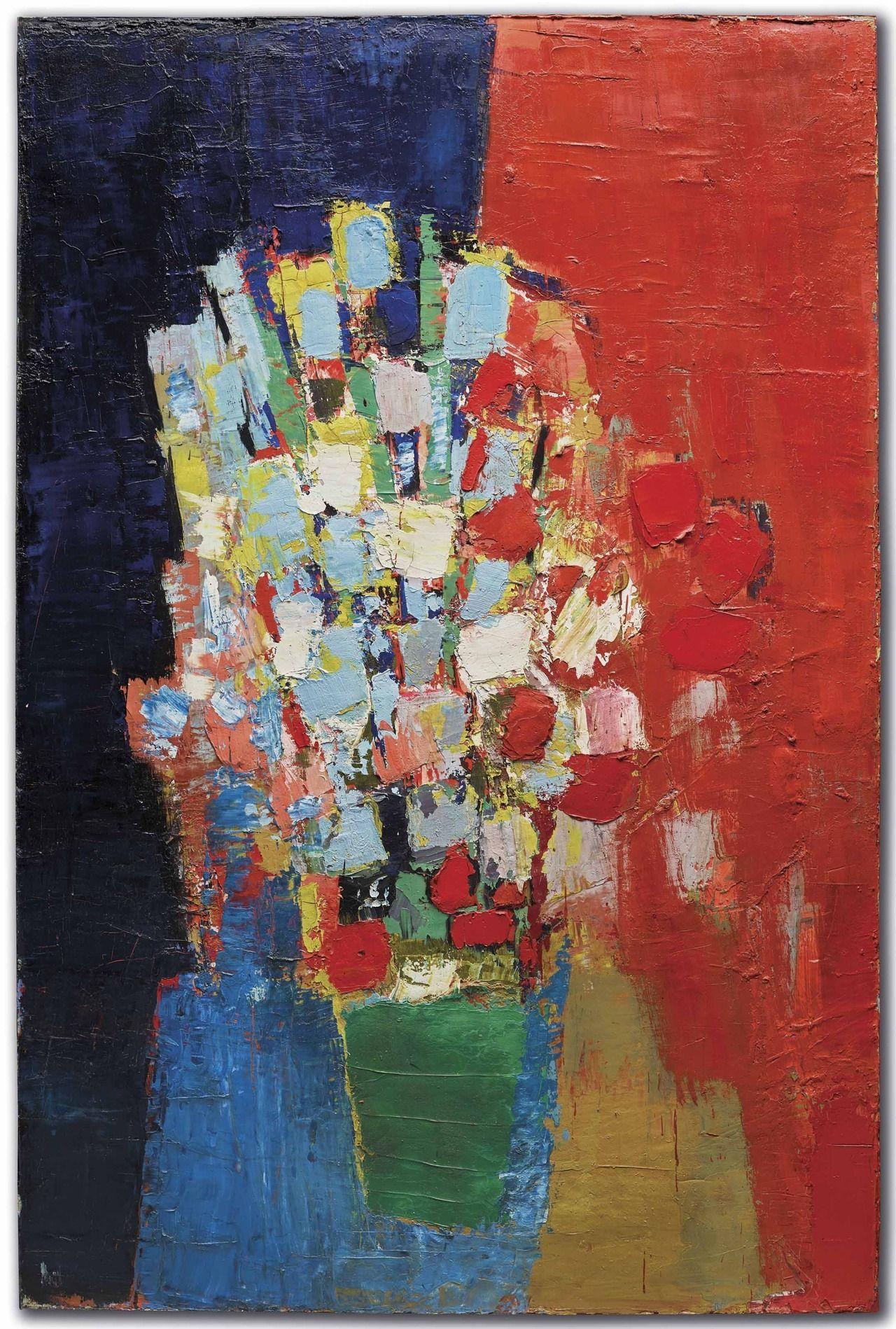 Nicolas De Stael Vase De Fleurs 2020 Peinture Acrylique
