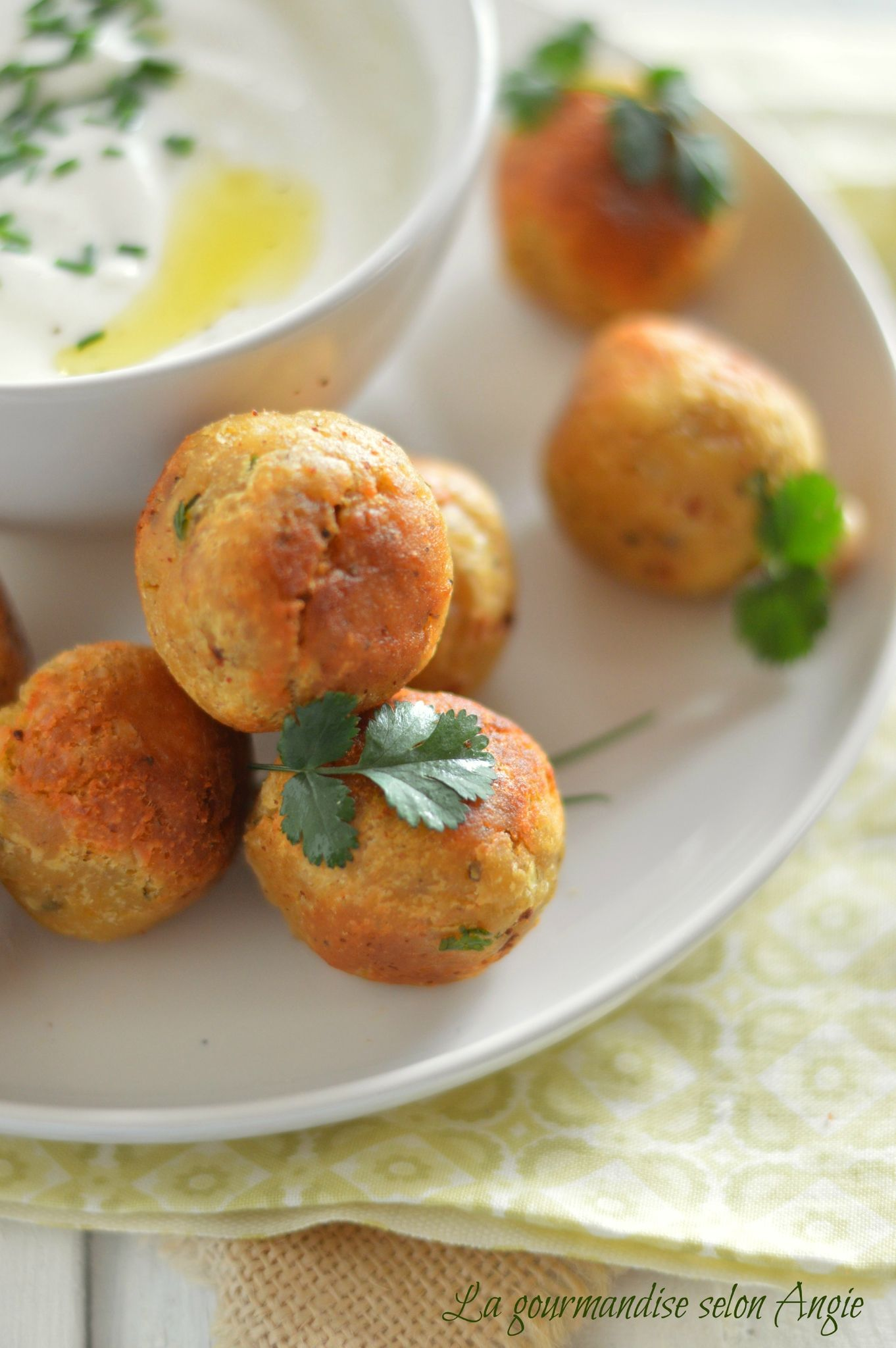 Falafels - sauce au yaourt #vegan #sans gluten - La ...