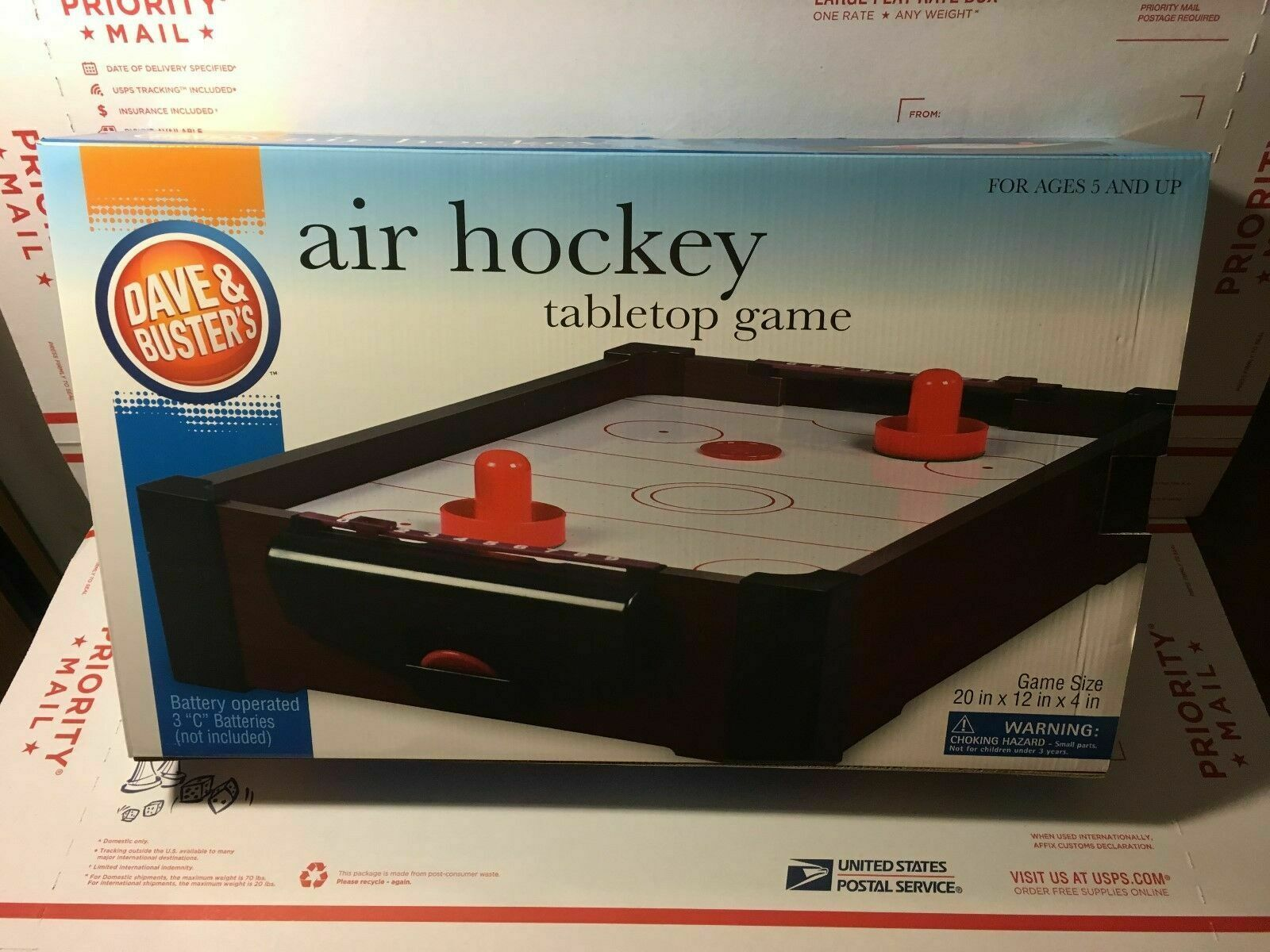 Dave Buster S Branded Air Hockey Table Tabletop Game Brand New Air Hockey Tabletop Games Air Hockey Table