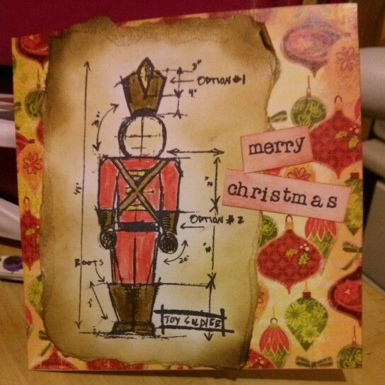 Christmas Card Using Tim Holtz Stamps