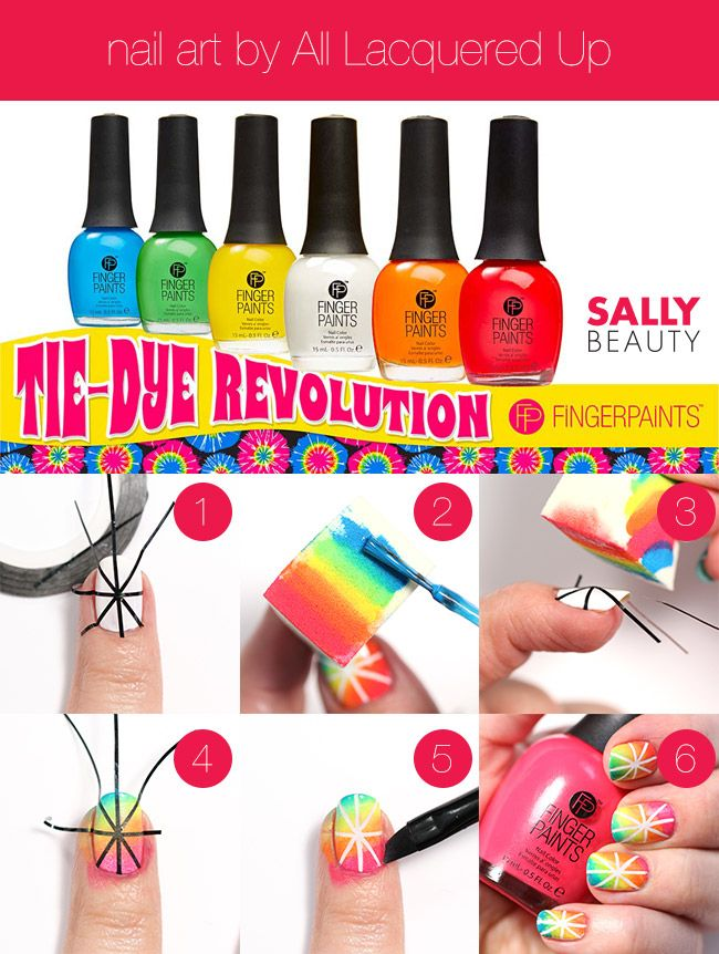 Tie Dye Revolution With All Lacquered Up Tie Dye Nails Art